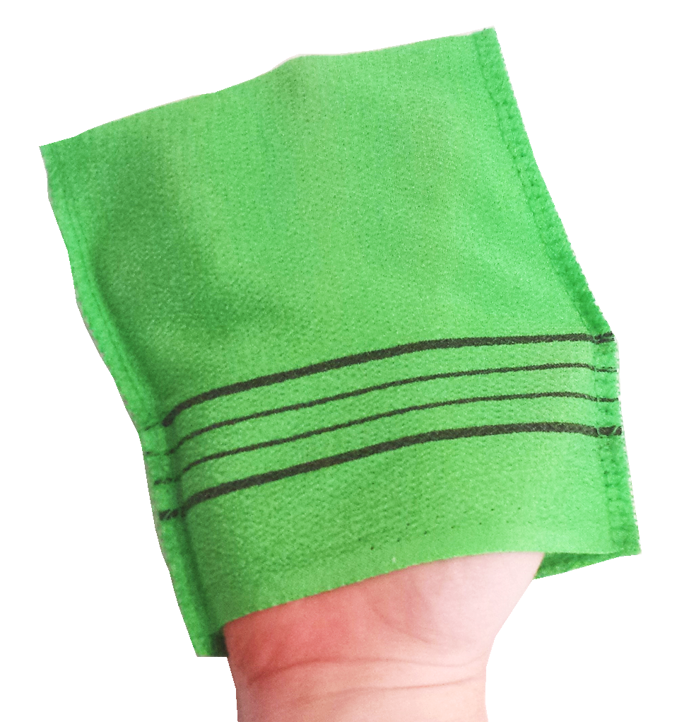 Korean Washcloths: Exfoliation: Softer, Smoother, & More Youthful-looking