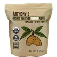 Anthony's Organic Almond Flour (1lb), Blanched, Gluten Free
