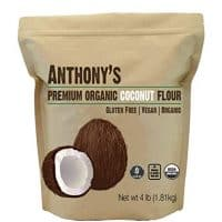 Anthony's Organic Coconut Flour (4lb), Gluten-Free