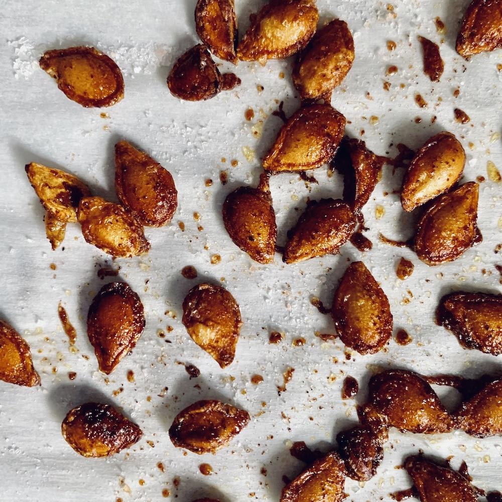 roasted winter squash seeds